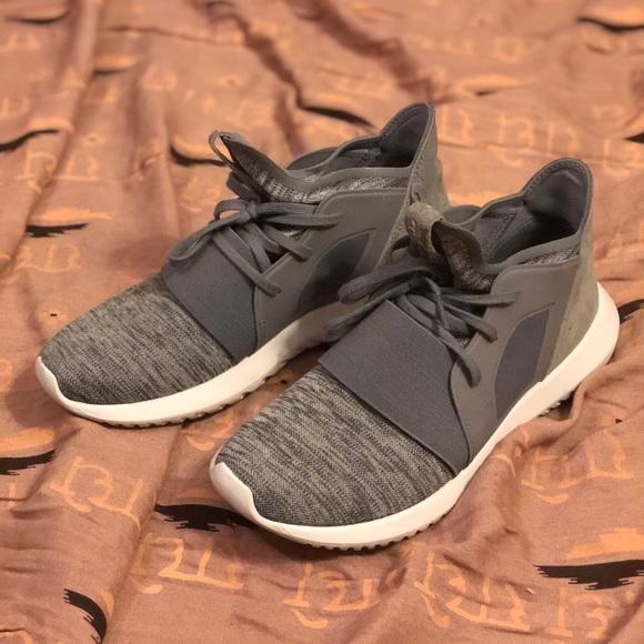 Adidas Gray Marl Tubular Defiant Sneakers Sz 6.5. M 5a4dbbf2077b97b8e2049bdc 6a72361e9fc6